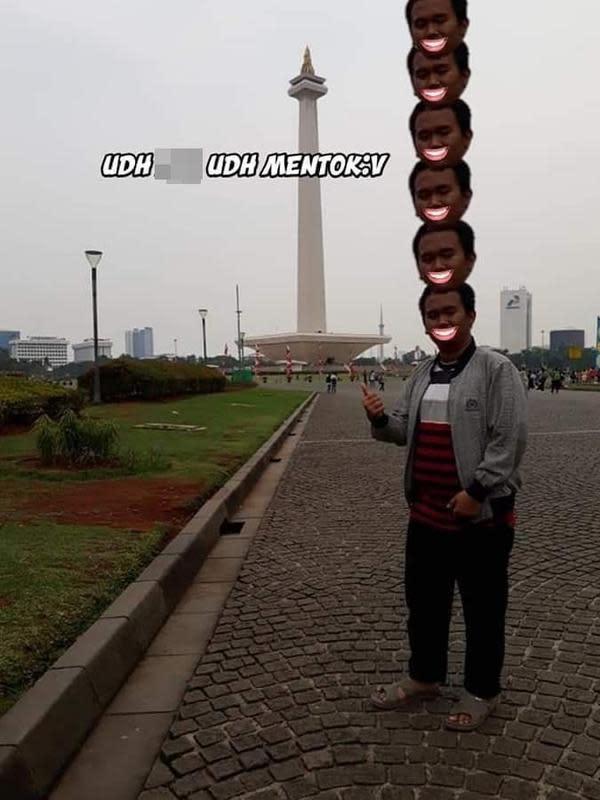 Editin foto tinggi sama dengan Monas (Sumber: Instagram/trash.exxe)