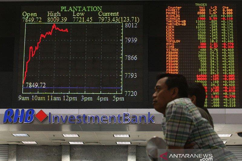 Saham Malaysia berakhir melemah dengan indeks KLCI turun 0,72 persen