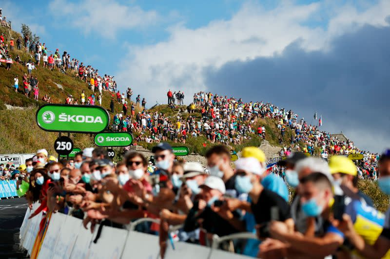 Fans barred from Tour de France stage finishes