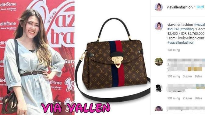 Koleksi tas mewah pedangdut Via Vallen yang ditaksir ratusan juta. (Sumber: Instagram/viavallenfashion)