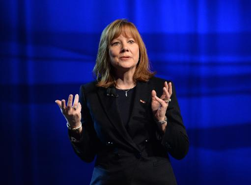 New General Motors CEO Mary Barra speaks at the North American International Auto Show on January 12, 2014 in Detroit