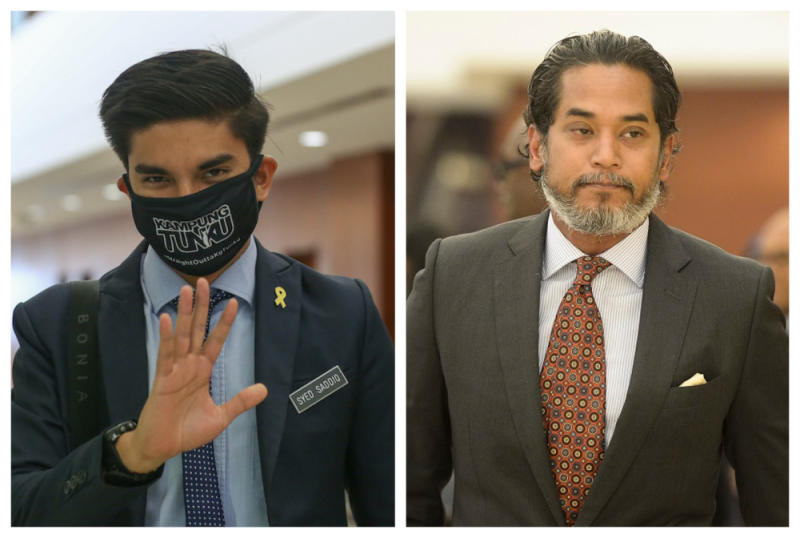 Muar MP Syed Saddiq Abdul Rahman and Science, Technology and Innovation Minister Khairy Jamaluddin are viewed by CADS as two top politicians leaving an impact with their online presence. — Pictures by Yusof Mat Isa and Mukhriz Hazim