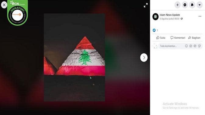 Gambar Tangkapan Layar Foto Piramida Agung Giza di Mesir