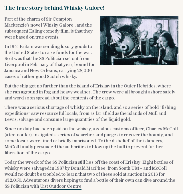 The true story behind Whisky Galore