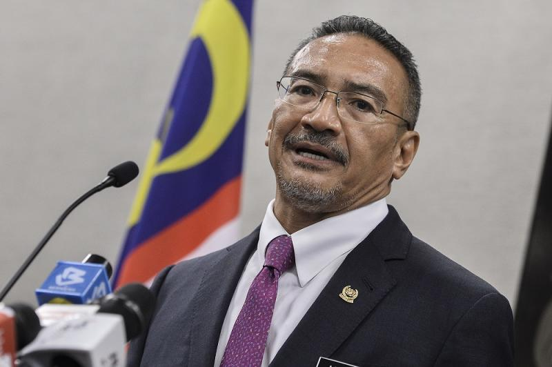 Foreign Affairs Minister Datuk Seri Hishammuddin Hussein speaks during a press conference at Parliament in Kuala Lumpur July 15, 2020. ― Picture by Miera Zulyana