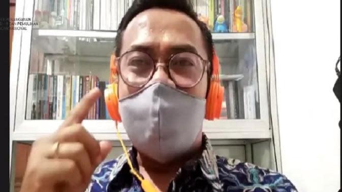 Turyono ketika membagikan pengalamannya saat diisolasi karena COVID-19 (Tangkapan Layar Youtube BNPB)