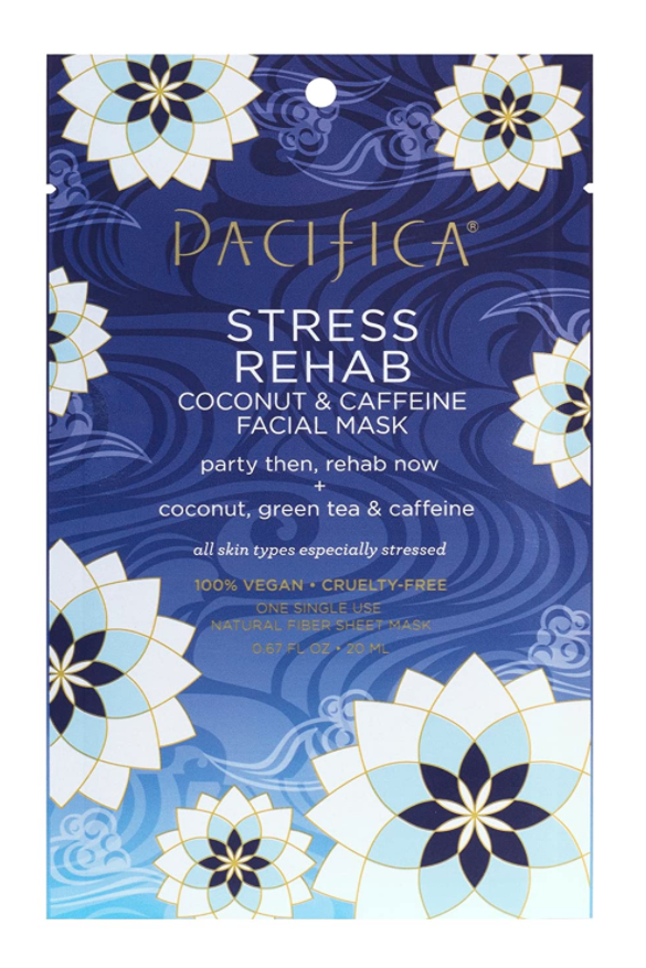 """<p><strong>Pacifica</strong></p><p>amazon.com</p><p><strong>$3.99</strong></p><p><a href=""""https://www.amazon.com/dp/B078HY1DR3?tag=syn-yahoo-20&ascsubtag=%5Bartid%7C10058.g.26596733%5Bsrc%7Cyahoo-us"""" target=""""_blank"""">SHOP IT</a></p><p>Too much wine at dinner? This sheet mask will be your saving grace. Coconut calms any alcohol-induced inflammation, and caffeine reinvigorates the skin so you don't look like the walking dead at morning-after brunch. </p>"""