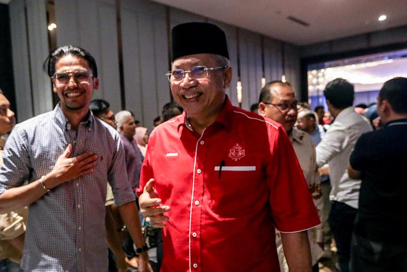Umno secretary-general Tan Sri Annuar Musa is pictured at Sheraton Hotel February 23, 2020. — Picture by Firdaus Latif