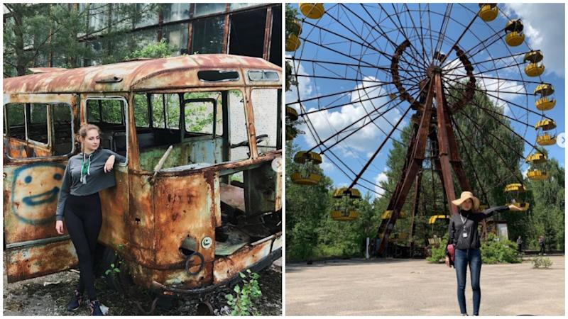 A social media trend has emerged on the site of Chernobyl after the release of HBO's new series Chernobyl