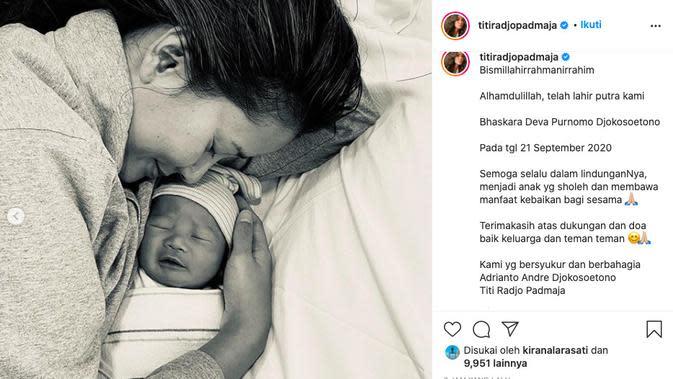 Titi Rajo Bintang Dikaruniai Anak Kedua. (instagram.com/titiradjopadmaja)