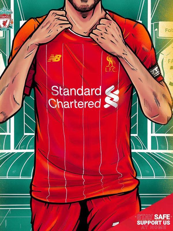 Illustrasi Yulius Wisnu untuk Liverpool Credit: Liverpool dan Yulius Wisnu