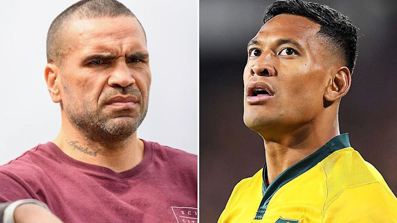 Anthony Mundine has once again spoken out about Rugby Australia's decision to terminate Israel Folau's contract. Pictures: GETTY IMAGES