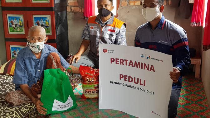 Pertagas Salurkan 1.835 Paket Bantuan ke Dhuafa dan Yatim Terdampak Covid-19. Dok Pertagas