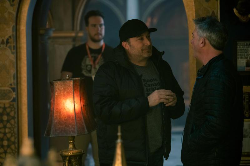Steve Blackman filming episode 210 of The Umbrella Academy