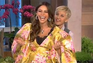 VIDEO: Hilarious! CoverGirls Ellen DeGeneres and Sofia Vergara Play with Makeup