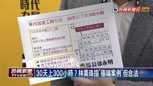 勞基法修法  徐永明:讓勞工30天上300小時