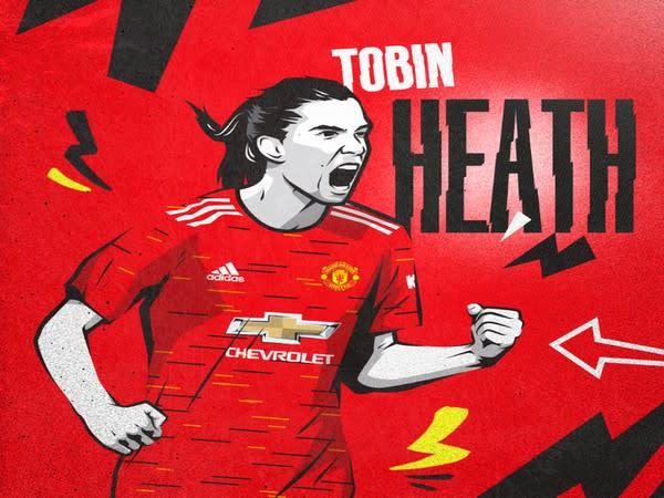 US midfielder Tobin Heath (Photo/Manchester United Women Twitter)