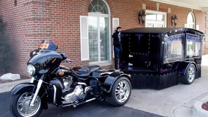 Buat Pecinta Motor, Kereta Jenazah Harley-Davidson Bisa Mengantar ke Tempat Peristirahatan Terakhir