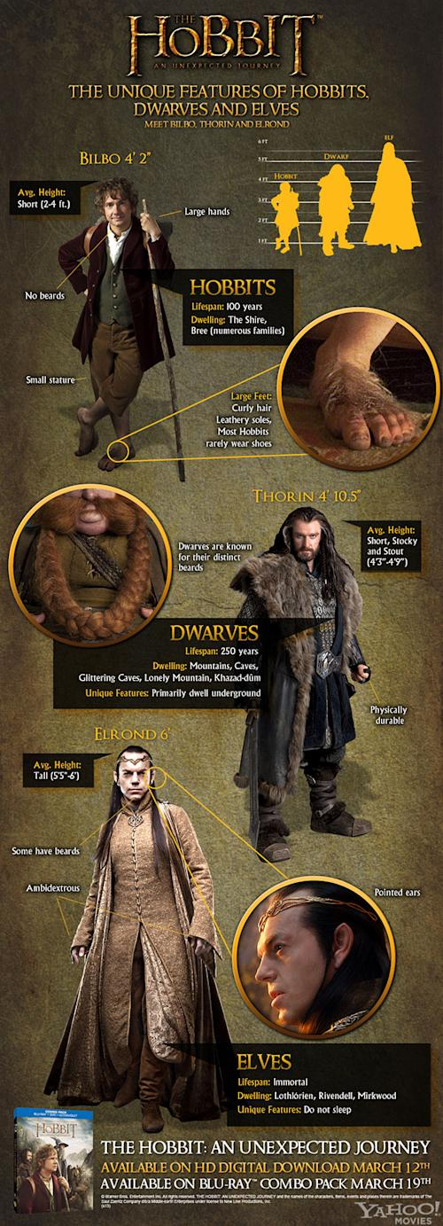 'The Hobbit' Exclusive Infographic Stacks Up the Races of Middle-earth