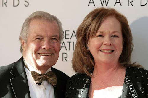 Restauranteur Jacques Pepin, left, and President of the James Beard Foundation Susan Ungaro, right, arrive at the James Beard Foundation Awards Gala on Monday, May 6, 2013, in New York. (Photo by Andy Kropa/Invision/AP)