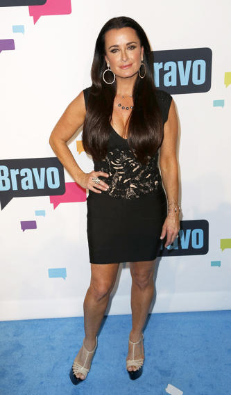 Celebrity arrivals at the Upfront by Bravo blue carpet in NYC