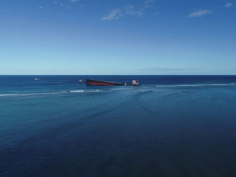 Most oil on damaged ship off Mauritius removed, owner says