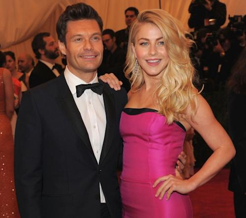 Ryan Seacrest and Julianne Hough step out at the 'Schiaparelli And Prada: Impossible Conversations' Costume Institute Gala at the Metropolitan Museum of Art in New York City on May 7, 2012 -- Getty Images