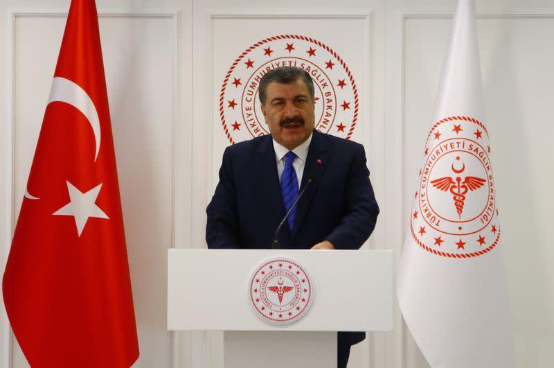 Turkey has only been publishing symptomatic coronavirus cases - minister