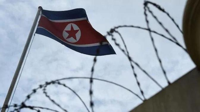 Bendera Korea Utara (AFP PHOTO)