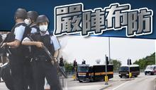 警方懲教「車陣」嚴密布防 擎槍重裝押送李宇軒上庭