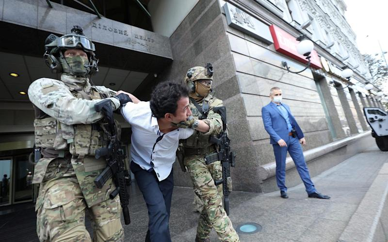 The hostage taker was identified as a 32-year old native of Uzbekistan - The Ukrainian Ministry of Interior via Reuters