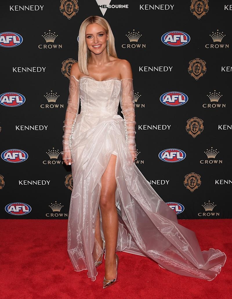 Jessie Murphy stunned in a near-translucent look. Photo: AAP