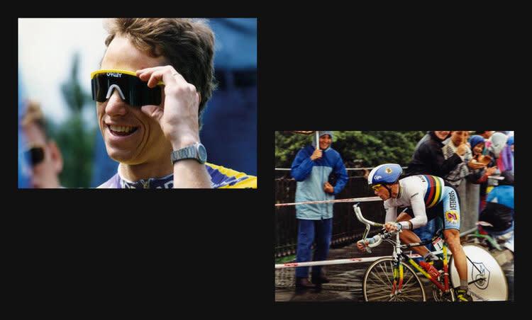Greg LeMond, the man who popularized Oakley's Eyeshade
