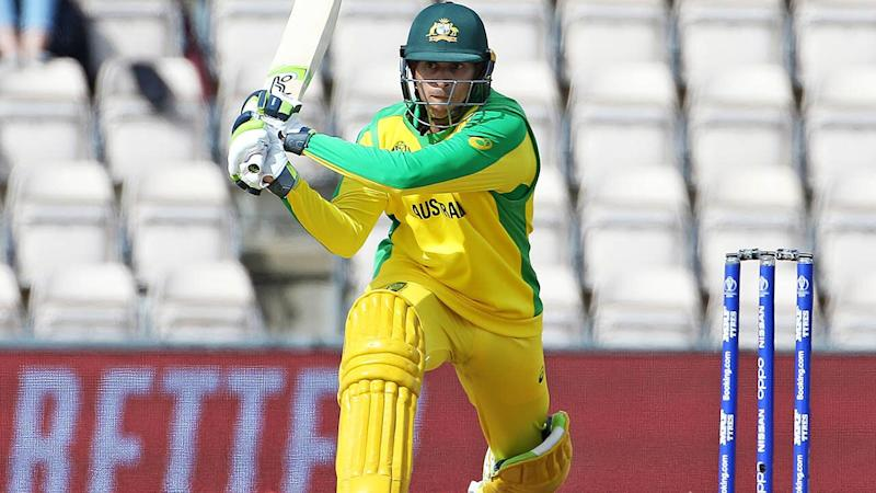 Usman Khawaja in action with the bat. (Photo by Mark Kerton/PA Images via Getty Images)