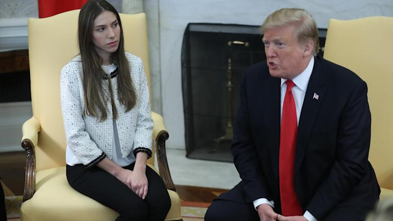 DC: Trump welcomes Fabiana Rosales