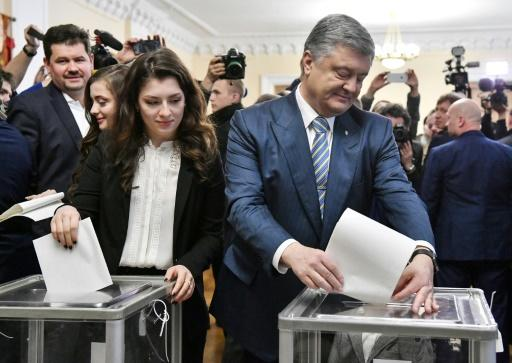 """Ukrainian President Petro Poroshenko said exit polls putting him second in the first-round vote was a """"harsh lesson"""""""
