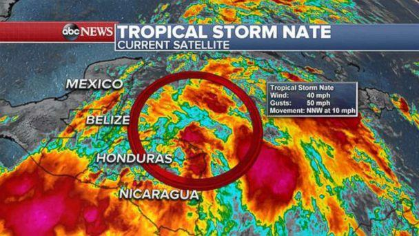 PHOTO: Tropical Storm Nate (ABC News)
