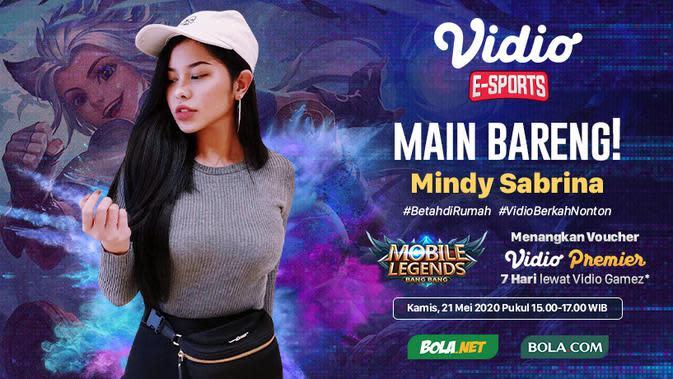 Link Live Streaming Main Bareng Mobile Legends: Bang Bang Bersama Mindy Sabrina