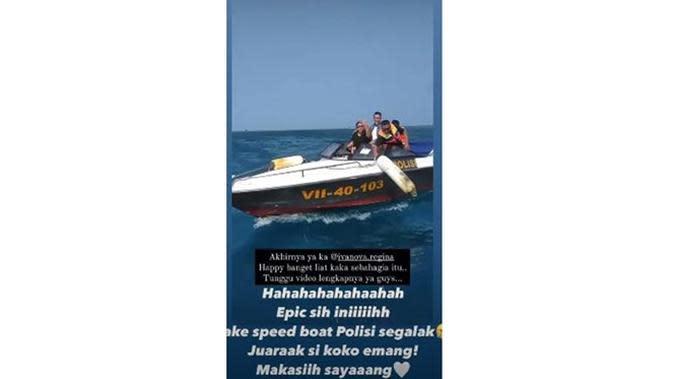 6 Momen Mesra Regina Ivanova dan Kekasih, Dilamar Di atas Speed Boat Polisi (sumber: Instagram.com/ivanova.regina)