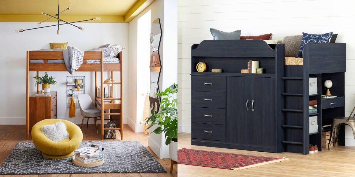 """<p>Want to make your bedroom work harder? Incorporating a loft bed is a quick way to optimize space, especially a more <a href=""""https://www.housebeautiful.com/room-decorating/bedrooms/g2231/small-bedroom-design-tips/"""" target=""""_blank"""">compact one</a>. Their raised-sleeping component creates a studious nook, perfect for <a href=""""https://www.housebeautiful.com/design-inspiration/a31668687/how-to-work-from-home-office-decor/"""" target=""""_blank"""">working from home</a>—simply pull up a chair! And don't worry, loft beds aren't just for kids and college students. Most adults can sleep in comfort on their twin or full-size mattresses. Besides, what's more convenient than hitting the hay above where you work? Simply climb up its ladder to crash in comfort. </p><p>Loft beds also give house guests the ultimate, all-in-one space. Some  more-innovative options even include a wardrobe or a built-in bulletin board, and drawers and integrated shelving allow for personalization and <a href=""""https://www.housebeautiful.com/home-remodeling/diy-projects/how-to/g2037/diy-storage-solutions/"""" target=""""_blank"""">extra storage</a>. Plus, there are plenty of styles to choose from. Opt for a bold color, go classic with a wood tone, or keep it simple in black or white. In any case, the loft bed's sculptural form gives any bland, box-shaped space instant charm. </p><p>Craft an efficient work-from-home space that makes you proud, and employ a practical yet clever loft bed for fabulous function. These are some of the best lofted sleepers you can buy online to step up your bedroom game in style. (Mattresses not included!)</p>"""