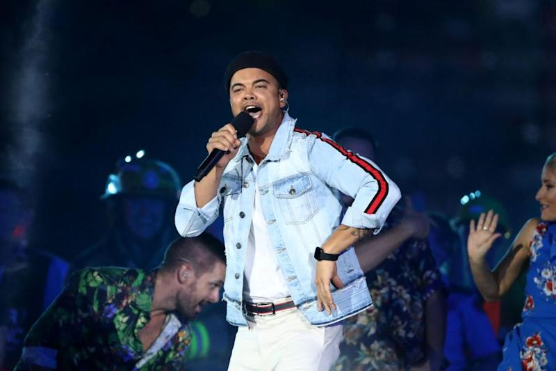 Guy Sebastian performed at the 2018 Commonwealth Games Closing Ceremony. Source: Getty