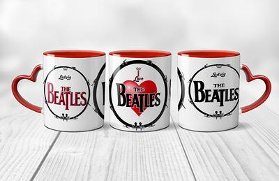 Details about  /I Love THE BEATLES Custom Drum Design Heart Handled 11 oz Beverage Coffee Mug
