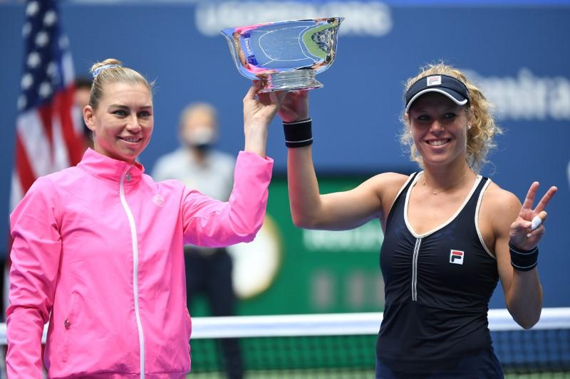 Siegemund, Zvonareva claim U.S. Open women's doubles title