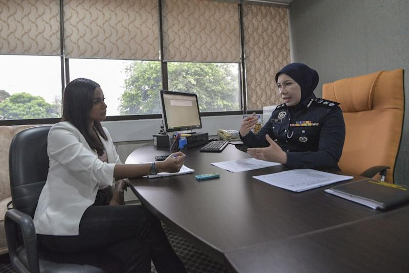 Bukit Aman sexual, women, and child investigation division principal assistant director, Superintendent Siti Kamsiah Hassan speaks to Malay Mail during an interview in Kuala Lumpur August 18, 2020 ― Picture by Shafwan Zaidon