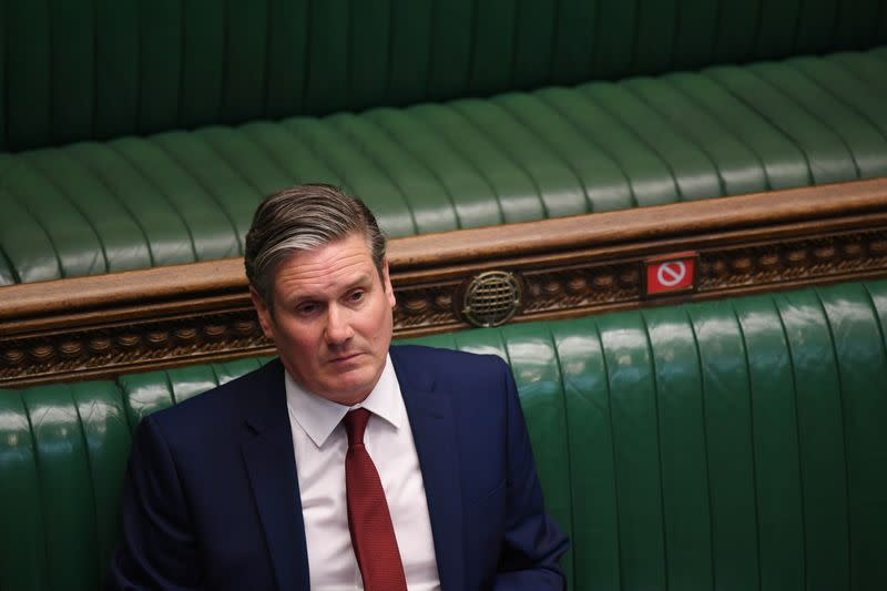 British opposition leader Starmer takes a knee in support of Black Lives Matter