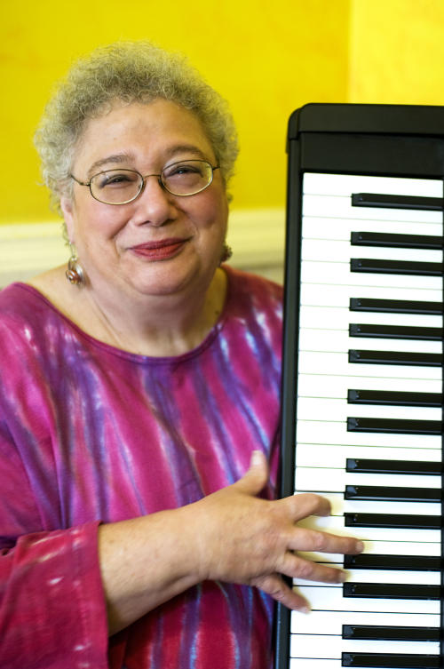 This Sept. 9, 2008 photo provided by Alligator Records, shows Ann Rabson, co-founder of the trio Saffire-The Uppity Blues Women. Alligator Records says Rabson died Wednesday, Jan. 30, 2013 in Fredericksburg, Va. She was 67. (AP Photo/Alligator Records, Rebecca Sell)