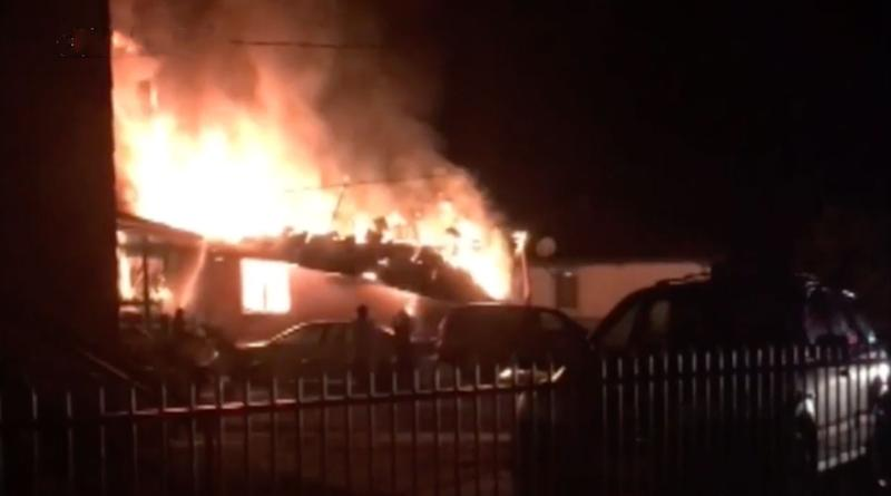 A house on fire at Brittcliffe Close in Singleton on Wednesday morning. Two girls, both aged 5, and an 11-year-old boy, died in the fire. A woman, 31, and a boy, 8, are in hospital in a stable condition.