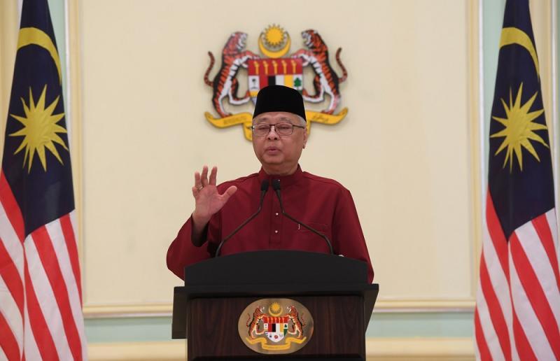 Senior Minister Datuk Seri Ismail Sabri Yaakob speaks during a press conference in Putrajaya May 22, 2020. — Bernama pic