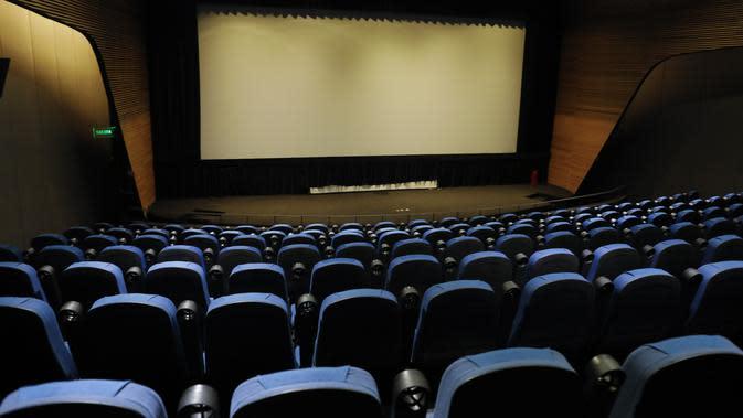 Bioskop di Meksiko yang sepi saat pandemi Corona. (AP Photo/Rebecca Blackwell)