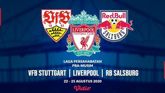 Laga persahabatan VFB Stuttgart, Liverpool dan RB Salsburg. (Bola.com/Dody Iryawan)